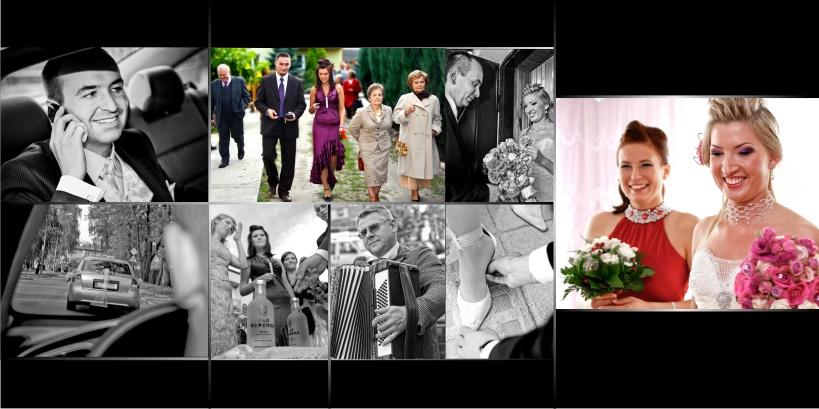 reportaż ślubny, fotoalbum, kulenty
